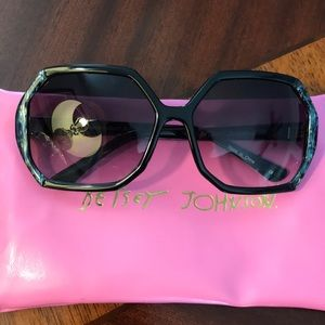 Betsey Johnson Raven/Cobalt BJ176 Sunglasses